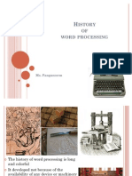 02 History of Word Processing
