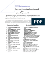 Differences between samaritans and jews