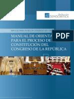 Manual de Orientación para el Proceso de Constitución del Congreso de la República
