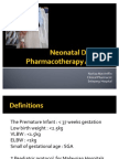 Neonatal Disease & Pharmacotherapy Approach1