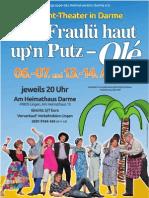 Theatergruppe des Heimatvereins Darme e.V. - Plakat 2011