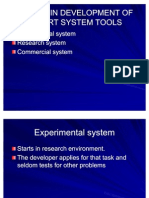 Stages in Development of Expert System Tools