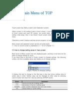 Main Menu&Calibration Manual
