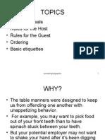 Dinning Etiquettes