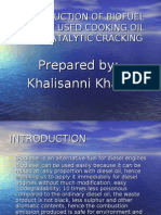 a production of biofuel via catalytic cracking - by khalisanni