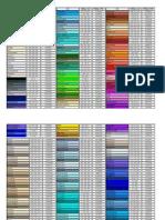 Tabela de Cor Hexadecimal e RGB
