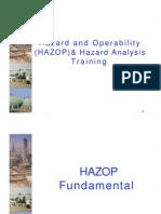 Hazard and Operability (HAZOP) & Hazard Analysis Training