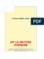 49290368 Hobbes de La Nature Humaine