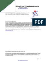 Beginners Cursus Microsoft Excel (in dutch)