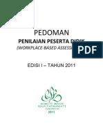Dody Firmanda 2011 -  Komite Medik RSF  - Pedoman Penilaian Peserta Didik (Workplace-Based Assessment)