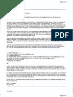 Dunne/Mayor ERT/lawsuit correspondence