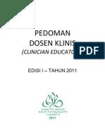 Dody Firmanda 2011 - Komite Medik RSF - Pedoman Dosen Klinis (Clinician Educators)