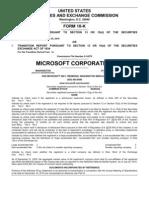 Microsoft 2010 10K