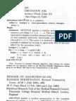 Durstenfeld -- Random Permutation Algorithm