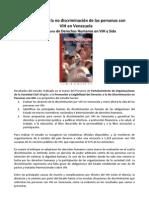 El derecho a la no discriminación de las personas con VIH en Venezuela Observatorio de Derechos Humanos en VIH