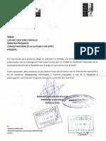 Carta Ministro 14-07-2011, Investigacion Contraloria Comisiones