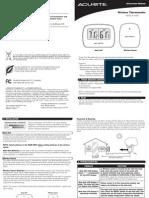 Acu Rite 00782 Manual