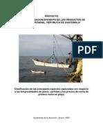 Clasificación de las principales especies capturadas con respecto  a las temporalidades de pesca, cantidad y los precios de venta de  primera mano en playa.