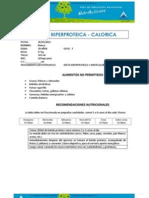 alimentos permitidos en dieta hiperproteica pdf