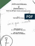 Sarngadeva, Sangita Ratnakara - vol01