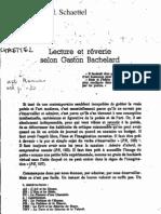 Schaettel, Lecture et Reverie selon Bachelard