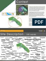 Gilmoss Sustainable Urban Development Design Boards (Park & School design)
