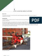 Overturned Boom Type Elevating Work Platform 3042