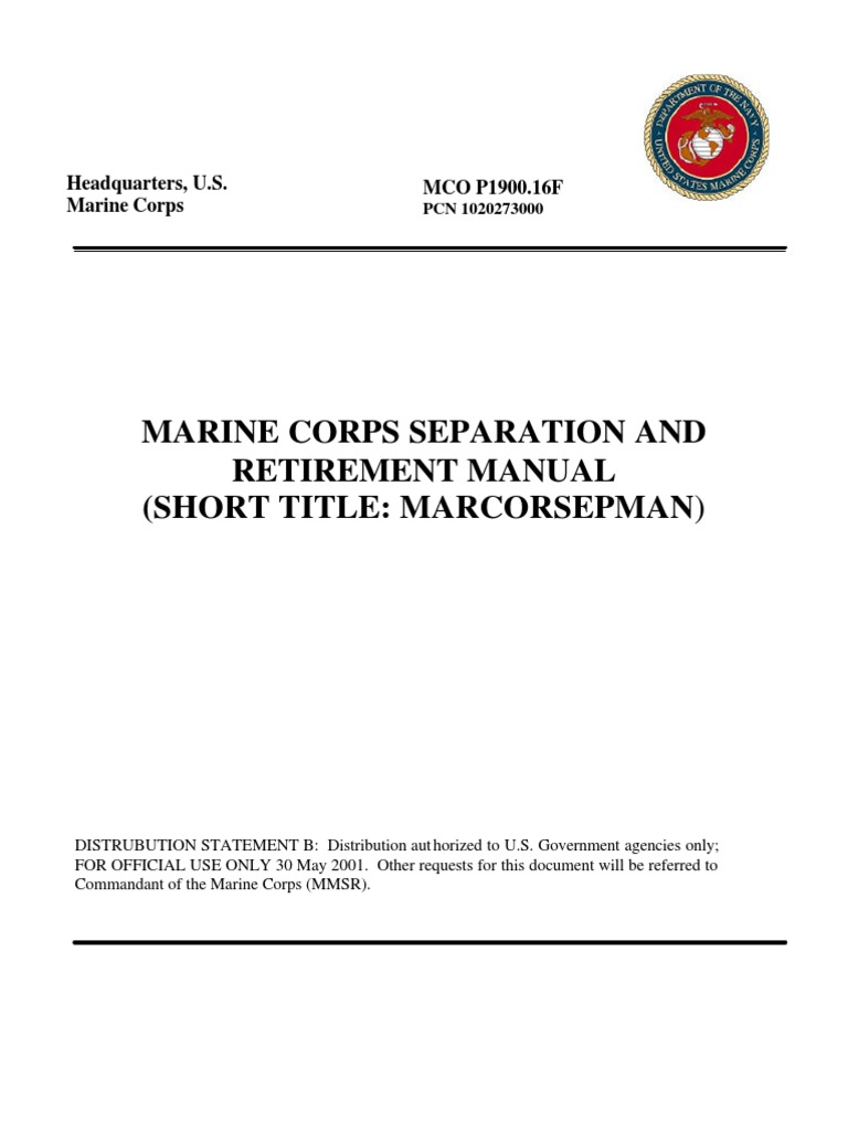 MARCORSEPMAN Military Discharge – Usmc Counseling Worksheet