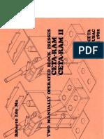 Two Manually Operated Block Presses - Ceta-ram & Caeta-ram II