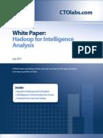 Hadoop for Intelligence Analysis