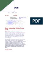April 2000 Spot News