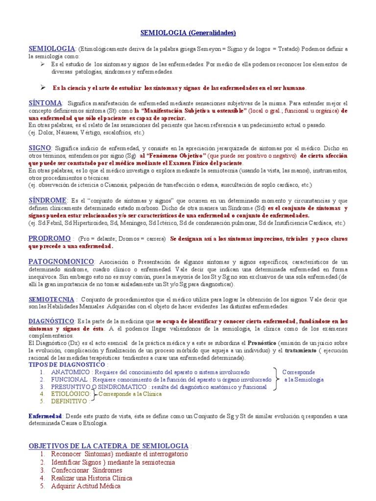 Semiología. Generalidades