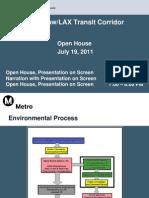 LAX Transit Project Update Open House - July 19, 2011