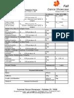 Fall 2008 Summary Form