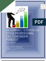 2. Codigo de Etica Profesional de Cpa Resumen