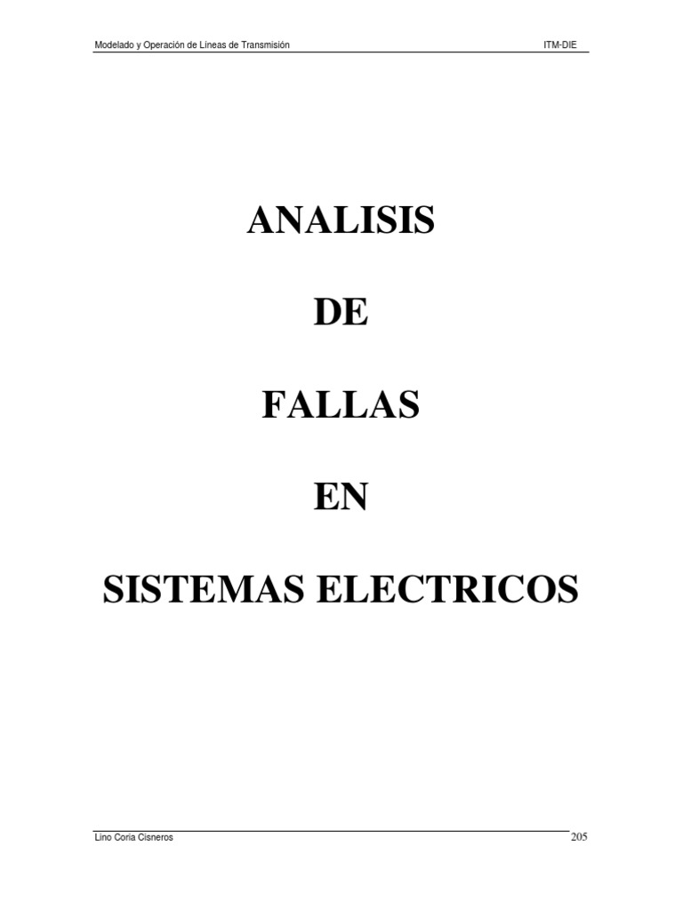 Analisis de Fallas en Sistemas de Potencia