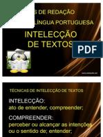 Intelecção de texto explicação
