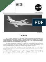 Nasa Facts the X-29 1995