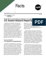 NASA Facts World War II and the National Advisory Committee for Aeronautics