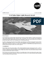 NASA Facts X-36 Tailless Fighter Agility Research Aircraft 1999