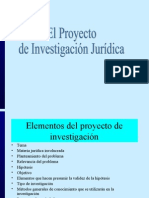 El Proyecto de Investigación Jurídica Guia Para Realizar