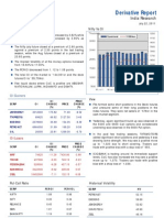 Derivatives Report 22nd July 2011