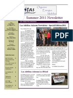 Las Adelitas Arizona Summer 2011 Newsletter