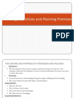 Strategies Policies & Planning Premises