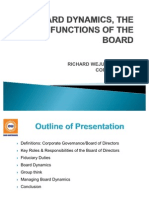Board Dynamics-Role and Functions of the Board