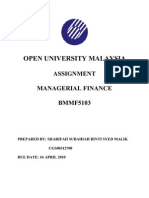 Bmmf5103 861024465000 Managerial Finance -Redo