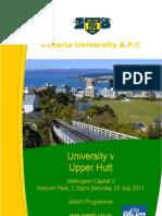 2011-07-22 1sts v Upper Hutt