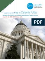 Tobacco Money in California Politics (2009-2010 Election Cycle)