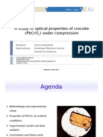 A study of optical properties of crocoite (lead chromate) under compression [slides]