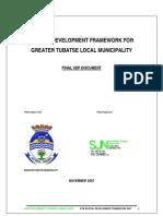 Greater Tubatse Spatial Development Plan